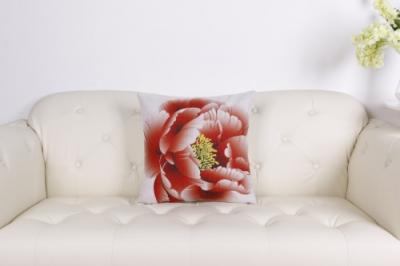 Dizajnový vankúš Joyel červený kvet