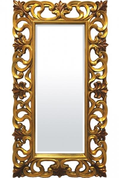 Zrkadlo zlato-hnedé (obdĺžnik)