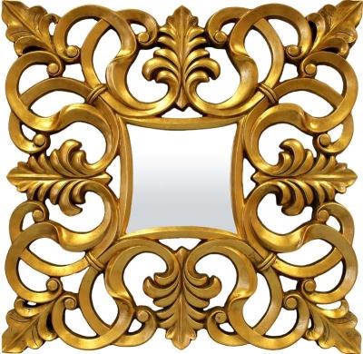 Zrkadlo zlaté (štvorec)