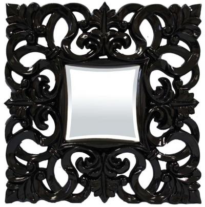 Zrkadlo čierne (štvorec)