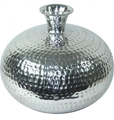Váza strieborná kovová (guľatá väčšia)