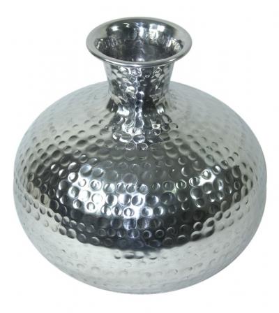 Váza strieborná kovová (guľatá menšia)