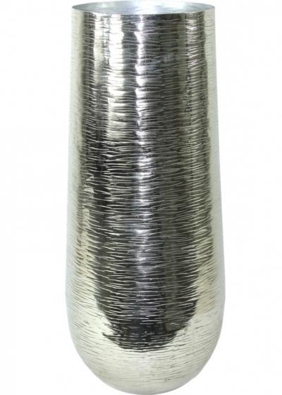 Váza strieborná kovová (oválna)