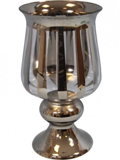 Váza pohár zadymená (väčšia)