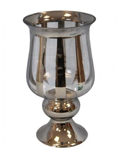 Váza pohár zadymená (menšia)