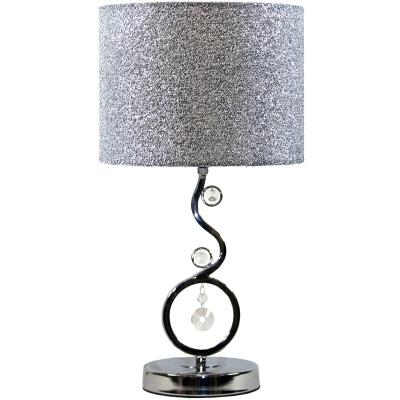 Stolová lampa strieborná (kryštál)