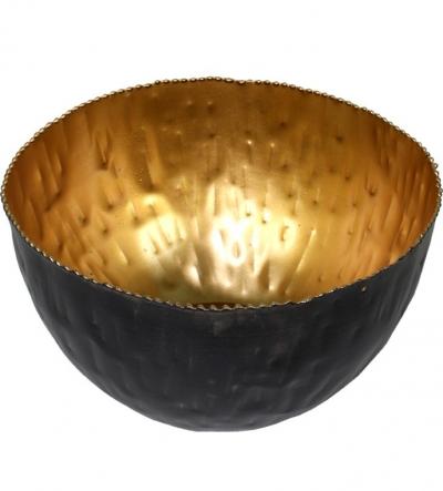 Miska tepaná čierno-zlatá (malá)
