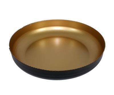 Misa tepaná čierno-zlatá (veľká nízka)