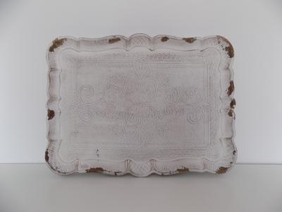 Tácka drevená biela (stredná)