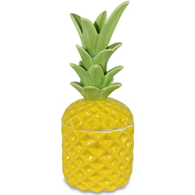 Keramická dóza ananás (malá žltá)