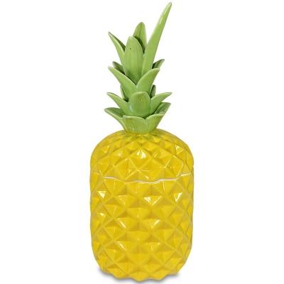 Keramická dóza ananás (veľká žltá)