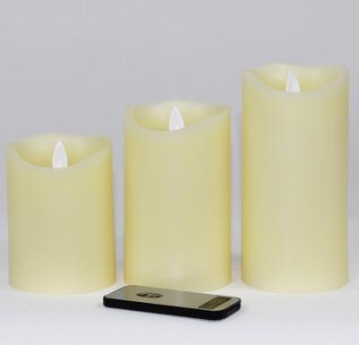 LED sviečky z vosku na ovládač