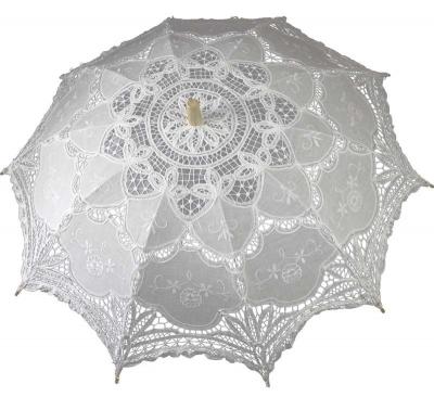 Čipkovaný dáždnik biely (veľký)