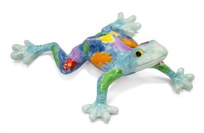 Keramická žaba multicolor (on)