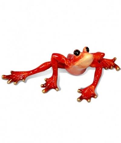 Keramická žaba červená 1