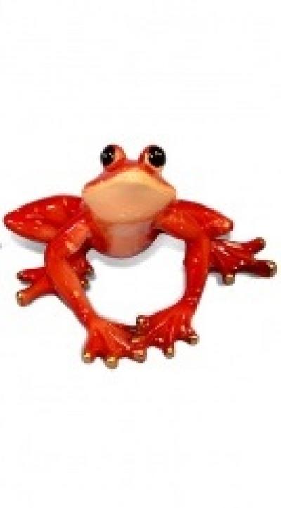 Keramická žaba červená 2