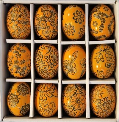 Sada keramických vajíčok (oranžová)