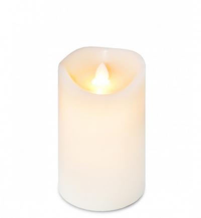 LED sviečka z vosku (stredná)